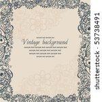 vintage floral  frame   Shutterstock .eps vector #53738491