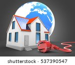 3d illustration of modern house ... | Shutterstock . vector #537390547