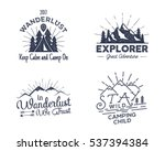 set of outdoors activity badges.... | Shutterstock .eps vector #537394384
