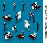 business people isometric set... | Shutterstock .eps vector #537395881