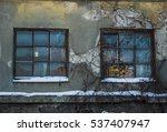 Abandoned House Windows With A...