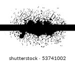 music notes with splash banner | Shutterstock . vector #53741002