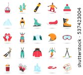 winter sports and fun color... | Shutterstock .eps vector #537423004