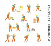 construction workers isolated... | Shutterstock .eps vector #537427435