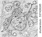 Fish And Waves Coloring Book...