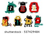 kids alphabet with cute... | Shutterstock .eps vector #537429484