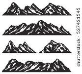 set of mountain ridges...   Shutterstock .eps vector #537431545