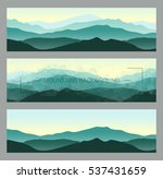 outdoor banners with mountain... | Shutterstock .eps vector #537431659