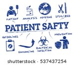 patient safety. chart with... | Shutterstock .eps vector #537437254
