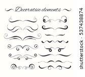 hand drawn divders set.... | Shutterstock . vector #537438874