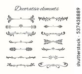 hand drawn divders set.... | Shutterstock . vector #537438889