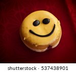 smiley face jelly doughnut with ... | Shutterstock . vector #537438901