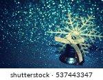 blue christmas holiday   jingle ... | Shutterstock . vector #537443347