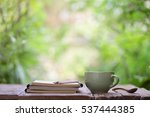 notebook with pencil and... | Shutterstock . vector #537444385