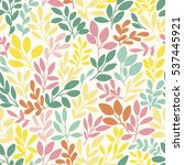 vector seamless pattern with... | Shutterstock .eps vector #537445921