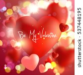 valentines day. valentines day... | Shutterstock .eps vector #537448195