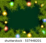 christmas background with fir... | Shutterstock . vector #537448201