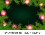 christmas background with fir... | Shutterstock . vector #537448249