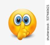 Cute Silence Emoticon  Emoji ...