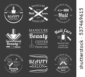 manicure and pedicure  beauty... | Shutterstock .eps vector #537469615