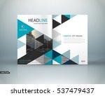 abstract binder art. white a4... | Shutterstock .eps vector #537479437