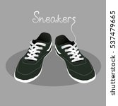 pair of stylish sneakers for... | Shutterstock .eps vector #537479665