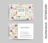 Floral Business Name Card...
