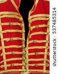 Retro Red Gold Hussar Uniform...