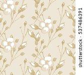 seamless rose. vintage floral... | Shutterstock .eps vector #537486391
