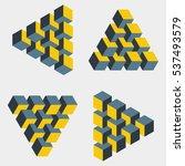 Set Of Medium Penrose Triangle...