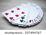 Playing cards deck isolated on...