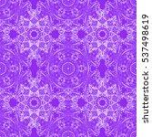 mandalas background. lilac.... | Shutterstock .eps vector #537498619