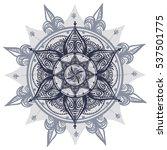 bohemian indian mandala towel.... | Shutterstock .eps vector #537501775