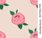simple rose seamless background | Shutterstock .eps vector #537501799