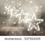 christmas background of de... | Shutterstock .eps vector #537502435