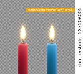candles burn with fire... | Shutterstock .eps vector #537506005