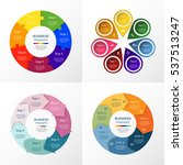 vector circle infographic set.... | Shutterstock .eps vector #537513247