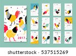 template calendar 2017 with a... | Shutterstock .eps vector #537515269