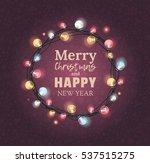 elegant christmas wreath with... | Shutterstock .eps vector #537515275