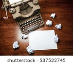 vintage typewriter covered with ... | Shutterstock . vector #537522745
