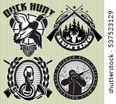 vector set of hunting labels... | Shutterstock .eps vector #537523129
