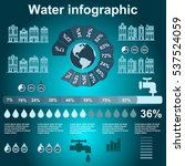 water infographic elements on... | Shutterstock .eps vector #537524059
