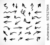 hand drawn arrows  vector set | Shutterstock .eps vector #537527044