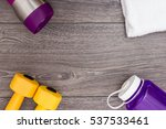 sports ware for gym. sport... | Shutterstock . vector #537533461