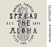 spread the aloha vintage label...   Shutterstock .eps vector #537533731