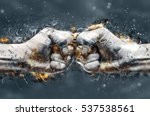 fight  two fists hitting each... | Shutterstock . vector #537538561