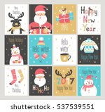 set of new year and christmas... | Shutterstock .eps vector #537539551