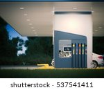modern bright gas station with... | Shutterstock . vector #537541411