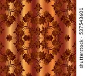 Floral Baroque Seamless Patter...