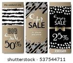set of social media sale... | Shutterstock .eps vector #537544711